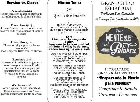 """Gran Retiro Espiritual """"BUSCANDO EL ESPIRIRU DE ELIAS PARA GUIAR A LOS HIJOS"""""""