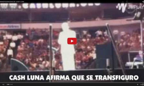 Cash Luna dice haberse transfigurado — FALSO CRISTO