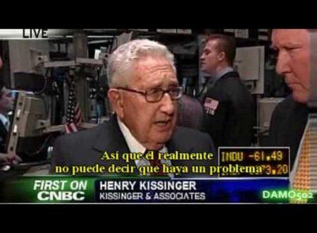 """Kissinger: """"Esta crisis es una GRAN OPORTUNIDAD para crear el Nuevo Orden Mundial"""""""