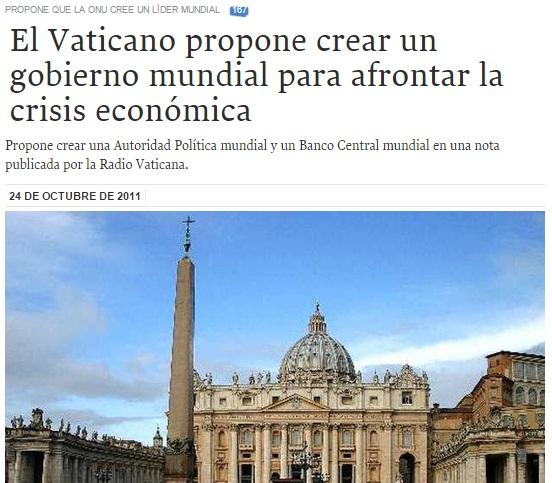 papa mundial crisis