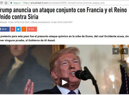 ¿ARMAGEDÓN? Trump anuncia un ataque conjunto con Francia y el Reino Unido contra Siria
