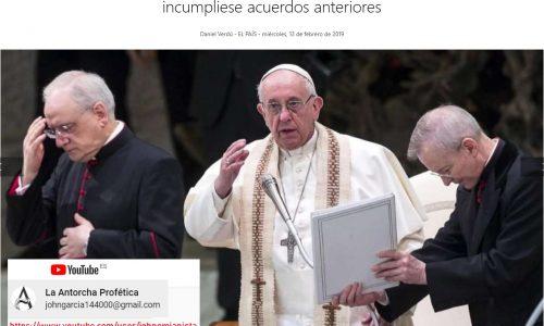 El Papa reprocha a Maduro (como el Anticristo esta sanando la herida)